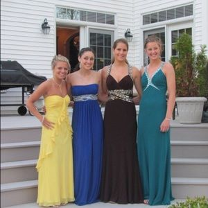 Dresses & Skirts - Brown and gold prom dress!